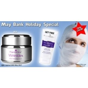 Buy Wrinklex and get Sun Blockex SPF 50 MAX Free